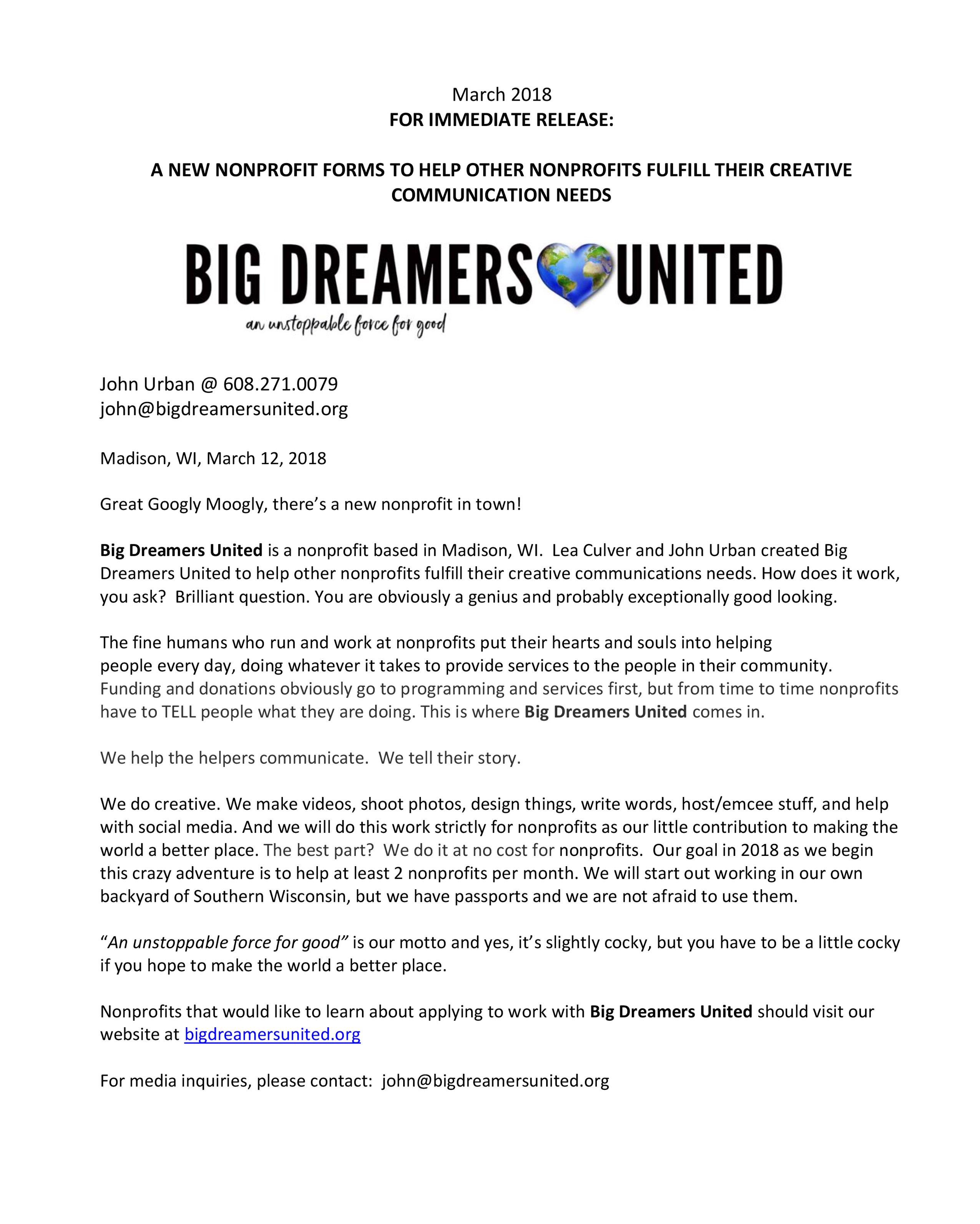 Blog – Big Dreamers United